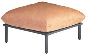 Alexander Rose Beach Lounge Flint Footstool with Cushion