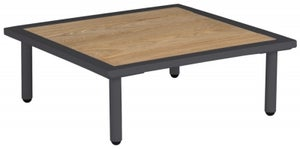 Alexander Rose Beach Lounge Flint Side Table with Roble Top