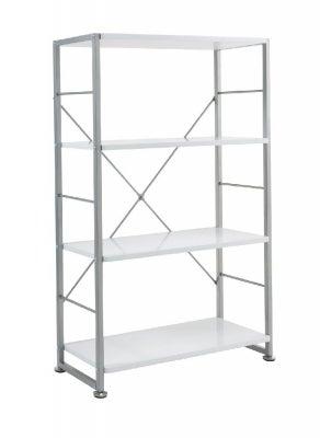 Alphason Cabrini White Bookcase