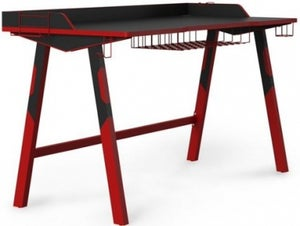 Alphason Fuego Black and Red Gaming Desk - AW9230
