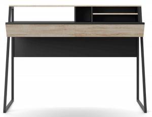 Alphason Salcombe Oak and Black Writing Desk - AW3160
