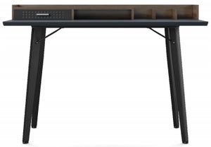 Alphason Memphis Charcoal Grey and Walnut Writing Desk - AW3615GRY