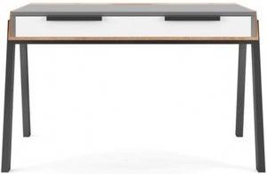 Alphason Geneva Grey and White Writing Desk - AW3608
