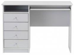 Alphason Marymount White Student Desk - AW22813-WH