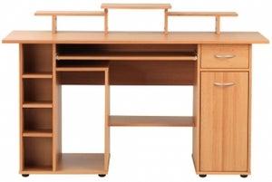 Alphason San Deigo Beech Computer Desk - AW12004
