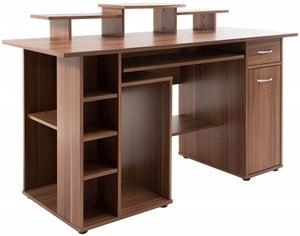 Alphason San Deigo Walnut Computer Desk - AW12004WAL