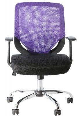 Alphason Atlanta Mesh Fabric Office Chair - Black and Purple AOC9201-M-PUR