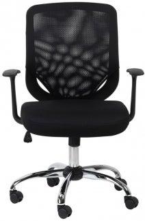 Alphason Atlanta Black Mesh Fabric Office Chair - AOC9201-M