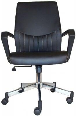 Alphason Brooklyn Black Faux Leather Office Chair - AOC3122-BLK