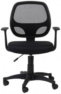 Alphason Davis Black Mesh Fabric Office Chair - AOC9118-M-BK