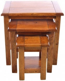 Ancient Mariner East Indies Dark Mango Wood Nest of Tables