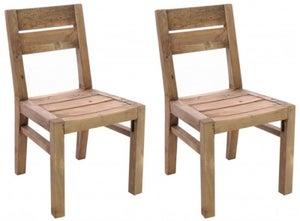 Ancient Mariner Fair Isle Reclaimed Pine Dining Chair (Pair)