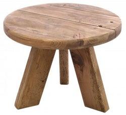 Ancient Mariner Fair Isle Reclaimed Pine Round Lamp Table