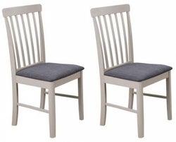 Altona Stone Grey Painted Dining Chair (Pair)