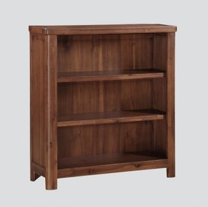 Andorra Dark Acacia Low Bookcase