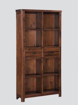 Andorra Dark Acacia Tall Bookcase
