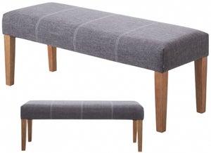 Zara Grey Fabric Bench