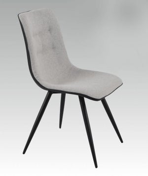 Cassino Faux Leather Grey Dining Chair (Pair)