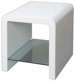 Clarus White Lamp Table