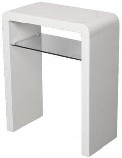 Clarus White Small Console Table