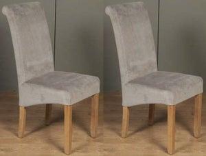 Sophie Grey Velvet Dining Chair (Pair)