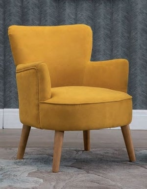 Keira Ochre Fabric Armchair