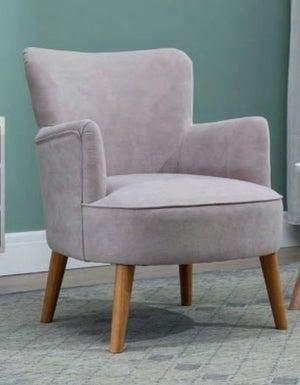 Keira Pearl Grey Fabric Armchair