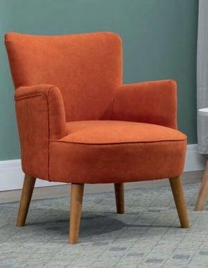Keira Sunburt Orange Fabric Armchair