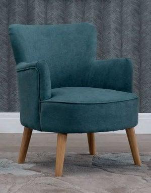 Keira Teal Fabric Armchair