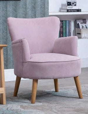 Keira Violet Fabric Armchair