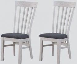 Kilmore Grey Painted Dining Chair (Pair)