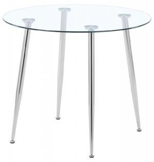 Nova Round Dining Table - Glass and Chrome