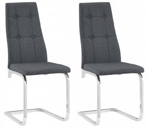 Nova Grey Fabric Dining Chair (Pair)