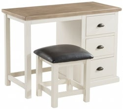 Santorini Stone Painted Dressing Table and Stool