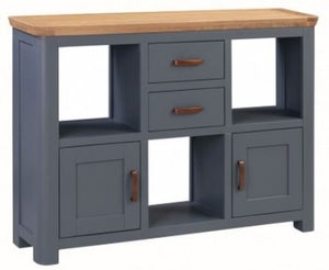 Treviso Midnight Blue and Oak Small Display Cabinet