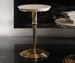 Arredoclassic Adora Sipario Italian Cream End Table - 50cm