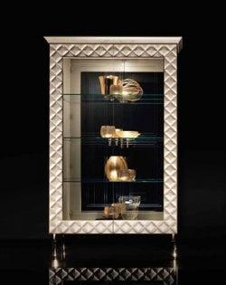 Arredoclassic Adora Sipario Italian Cream 2 Glass Door Cabinet