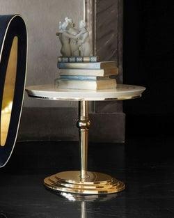 Arredoclassic Adora Sipario Italian Cream Lamp Table - 50cm
