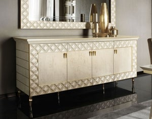 Arredoclassic Adora Sipario Italian Cream 4 Door Wide Sideboard