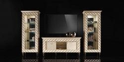 Arredoclassic Adora Sipario Italian Cream 4 Door TV Set Composition