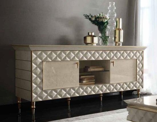 Arredoclassic Adora Sipario Italian Cream 2 Door TV Cabinet