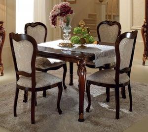 Arredoclassic Donatello Brown Italian 118cm-158cm Square Extending Dining Table