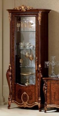 Arredoclassic Donatello Brown Italian 1 Glass Door Display Cabinet