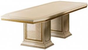Arredoclassic Leonardo Golden Italian 200cm-300cm Rectangular Extending Dining Table