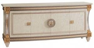 Arredoclassic Liberty Ivory with Gold Italian 4 Door Wide Sideboard