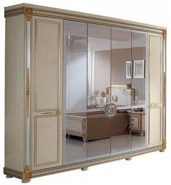 Arredoclassic Liberty Ivory with Gold Italian 6 Door Wardrobe