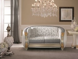Arredoclassic Liberty Italian 2 Seater Fabric Sofa