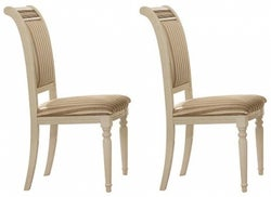 Arredoclassic Liberty Italian Fabric Dining Chair (Pair)