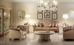 Arredoclassic Melodia Golden Italian 3+1+1 Sofa Set
