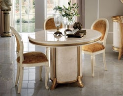 Arredoclassic Melodia Golden Italian 158cm Round Dining Table